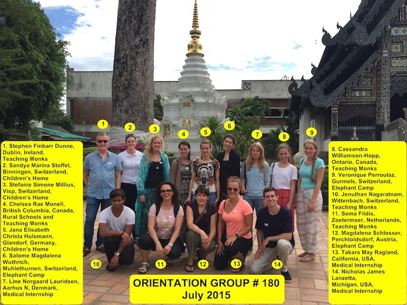 Chiang Mai Thailand Volunteer Group 180