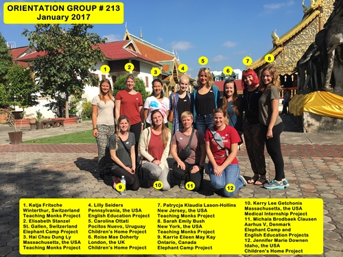Chiang Mai Thailand Volunteer Group 213