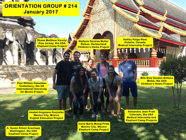 Chiang Mai Thailand Volunteer Group 214