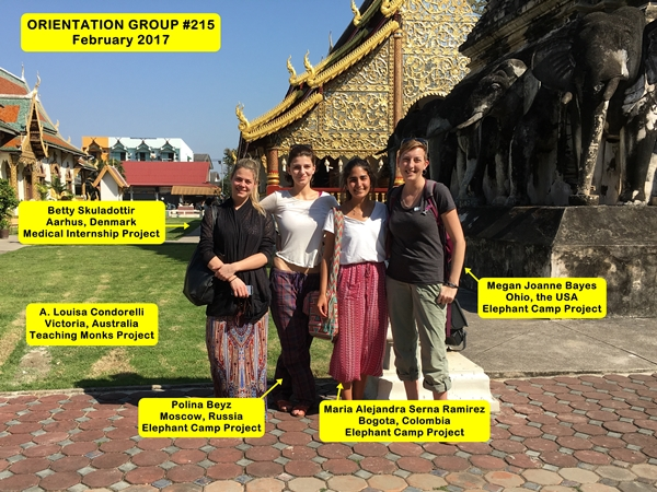 Chiang Mai Thailand Volunteer Group 215