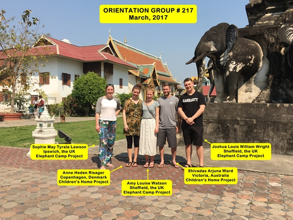 Chiang Mai Thailand Volunteer Group 217