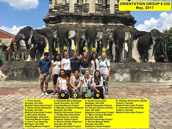 Chiang Mai Thailand Volunteer Group 220