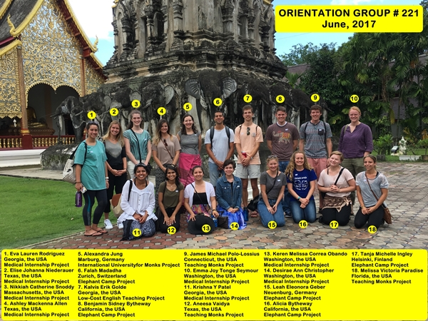Chiang Mai Thailand Volunteer Group 221