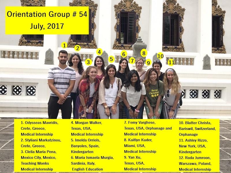 Bangkok Volunteer Group 54