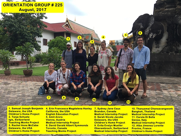Chiang Mai Thailand Volunteer Group 225