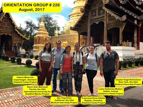 Volunteer Group # 226 Chiang Mai Thailand