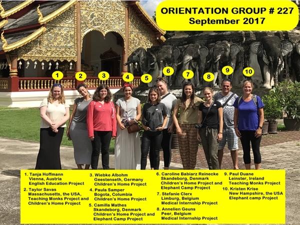 Volunteer Group # 227 Vhiang Mai Thailand