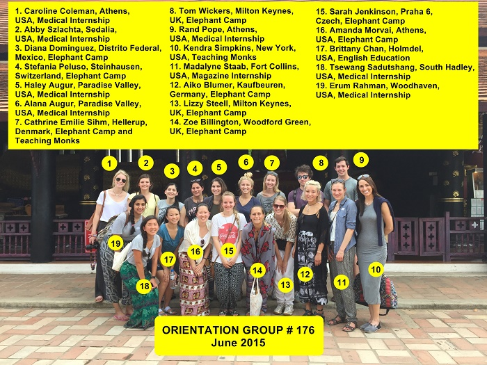 Chiang Mai Thailand Volunteer Group and names 176