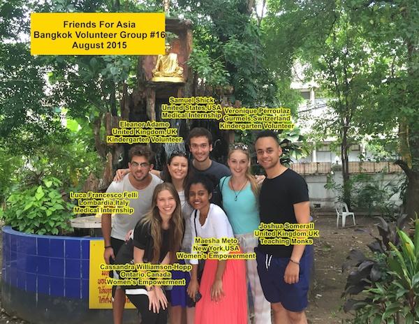 Bangkok Thialand Volunteer Group #16