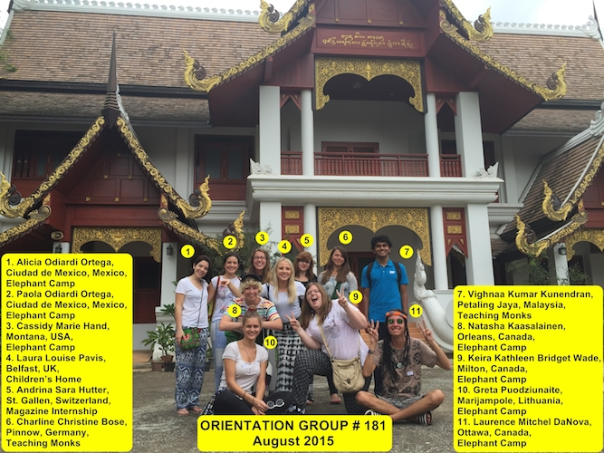 Chiang Mai Volunteer Thailand Group 181