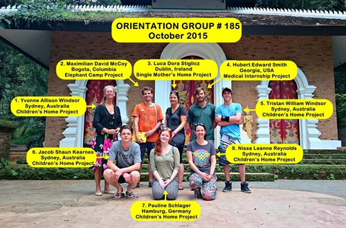 Volunteer Chiang Mai Thailand Group 185