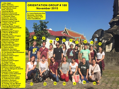 Thailand Chiang Mai Volunteer Group 188