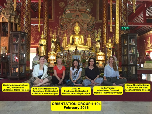 Chiang Mai Thailand Volunteer Group 194