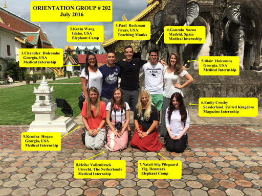 Chiang Mai Thailand Volunteer Group 202