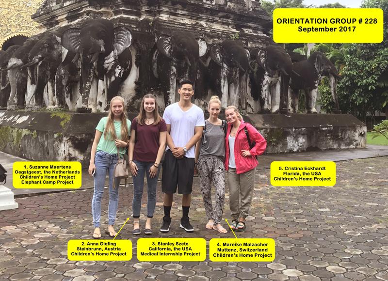 Volunteer Group # 228 Chiang Mai Thailand